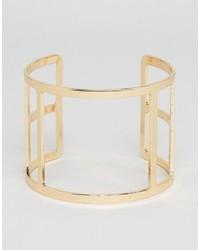 goldenes Armband mit geometrischen Mustern von NY:LON