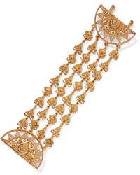 goldenes Armband mit geometrischen Mustern von Oscar de la Renta