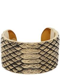 goldenes Armband mit Schlangenmuster