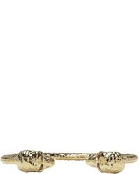 goldenes Armband von Alexander McQueen