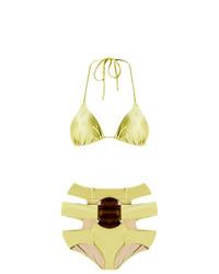 goldenes Bikinioberteil von Adriana Degreas