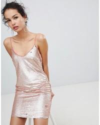 goldenes Camisole-Kleid aus Pailletten von Glamorous