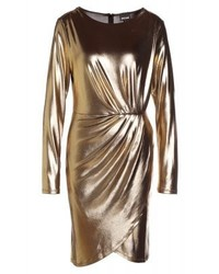 goldenes Freizeitkleid von Roberto Cavalli