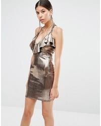 goldenes Kleid von Boohoo