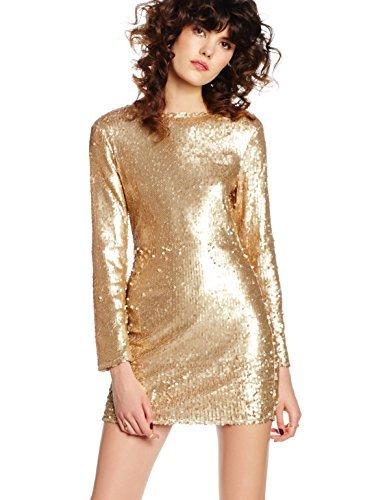 goldenes Kleid von Boohoo | Wo zu kaufen und wie zu kombinieren