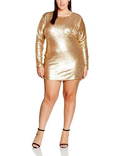 goldenes Kleid von Boohoo Plus | Wo zu kaufen und wie zu kombinieren