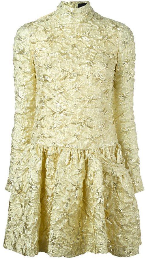 goldenes Kleid von Simone Rocha | Wo zu kaufen und wie zu kombinieren