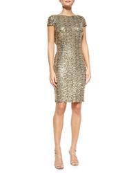 goldenes Paillette figurbetontes Kleid