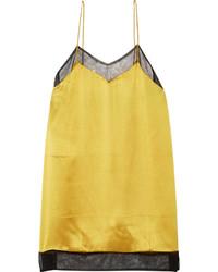 goldenes Seide Trägershirt von Gucci