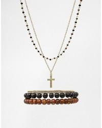 goldenes Perlen Armband von Asos