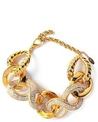 goldenes verziertes Armband von Giuseppe Zanotti