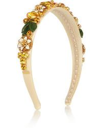 goldenes verziertes Haarband von Dolce & Gabbana