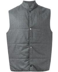 graue ärmellose Jacke von Paul Smith