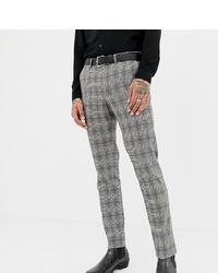 graue Anzughose mit Karomuster von Heart & Dagger