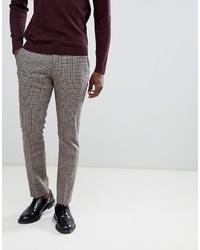 graue Anzughose mit Karomuster von Selected Homme