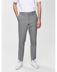 graue Anzughose mit Schottenmuster von Selected Homme