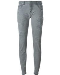 graue enge Jeans aus Baumwolle mit Destroyed-Effekten von Faith Connexion