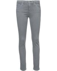 graue Baumwolle enge Jeans von AG Jeans