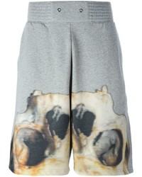 graue bedruckte Baumwollshorts von Givenchy