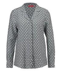 graue bedruckte Bluse mit Knöpfen von Hugo Boss