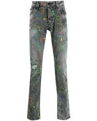 graue bedruckte Jeans von Philipp Plein