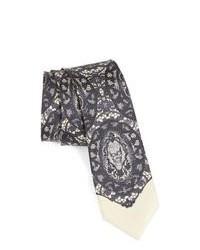 graue bedruckte Krawatte