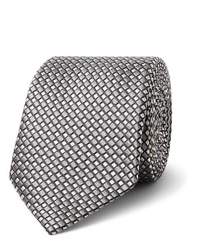 graue bedruckte Krawatte von Giorgio Armani