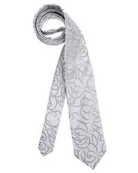 graue bedruckte Krawatte von STUDIO COLETTI