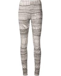 graue bedruckte Leggings