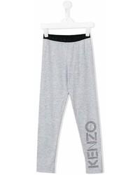 graue bedruckte Leggings von Kenzo