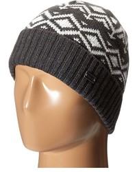 graue bedruckte Mütze