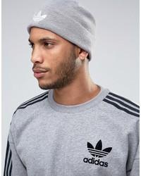 graue bedruckte Mütze von adidas