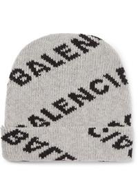 graue bedruckte Mütze von Balenciaga