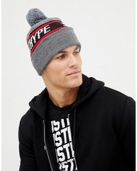 graue bedruckte Mütze von Hype