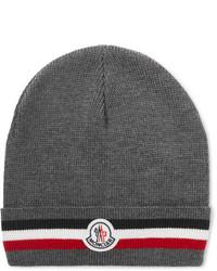 graue bedruckte Mütze von Moncler