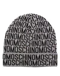 graue bedruckte Mütze von Moschino