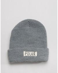 graue bedruckte Mütze von Poler