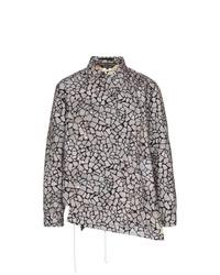 graue bedruckte Shirtjacke von Comme Des Garcons Homme Plus