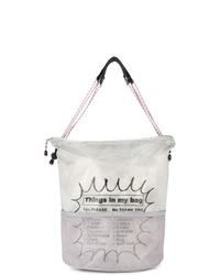graue bedruckte Shopper Tasche aus Segeltuch von Kolor Beacon