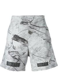 graue bedruckte Shorts