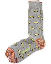graue bedruckte Socken