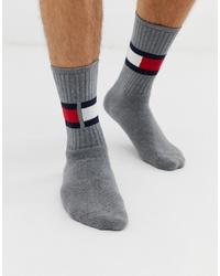 graue bedruckte Socken von Tommy Hilfiger