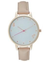 graue bedruckte Uhr von Even&Odd