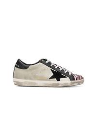 graue bedruckte Wildleder niedrige Sneakers von Golden Goose Deluxe Brand