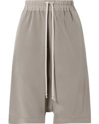 graue Bermuda-Shorts aus Seide von Rick Owens