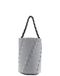 graue beschlagene Leder Beuteltasche von Proenza Schouler