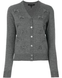 graue bestickte Strickjacke von Marc Jacobs