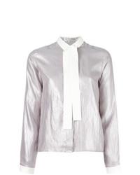 graue Bluse mit Knöpfen von MM6 MAISON MARGIELA