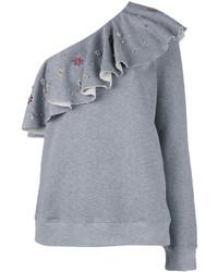 graue Bluse mit Rüschen von MSGM