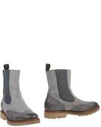 graue Chelsea-Stiefel aus Leder